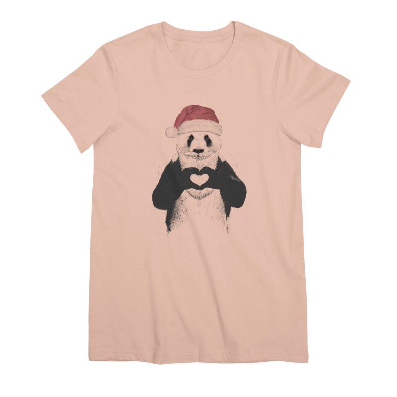 Santa panda Women's Premium T-Shirt by Balazs Solti