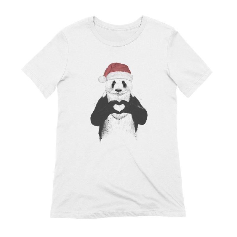 Santa panda Women's Extra Soft T-Shirt by Balazs Solti