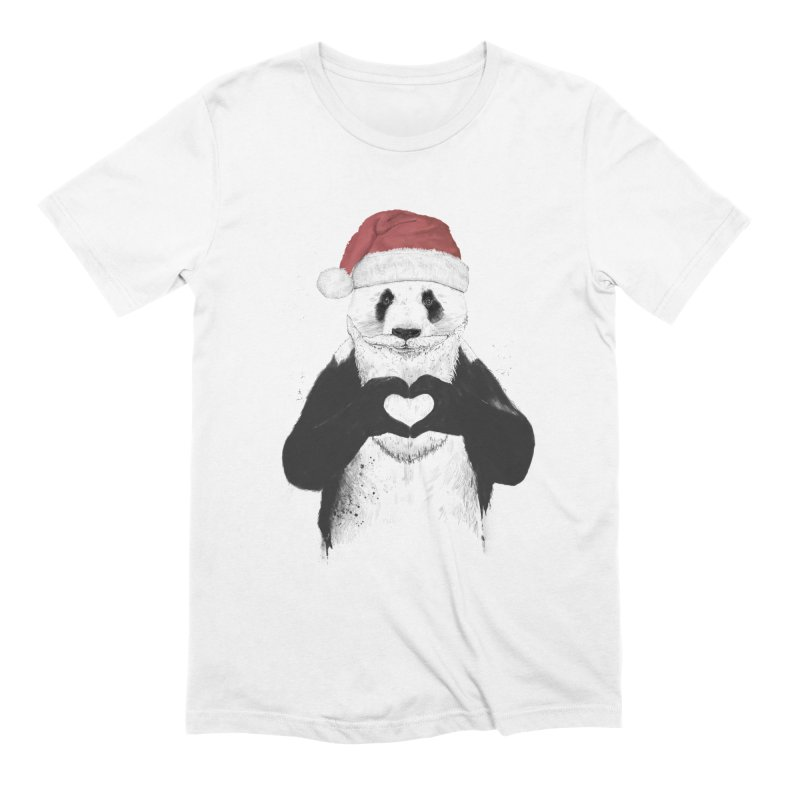 Santa panda Men's Extra Soft T-Shirt by Balazs Solti
