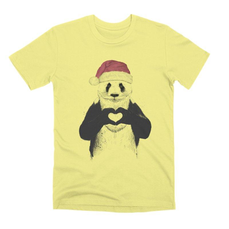 Santa panda Men's Premium T-Shirt by Balazs Solti