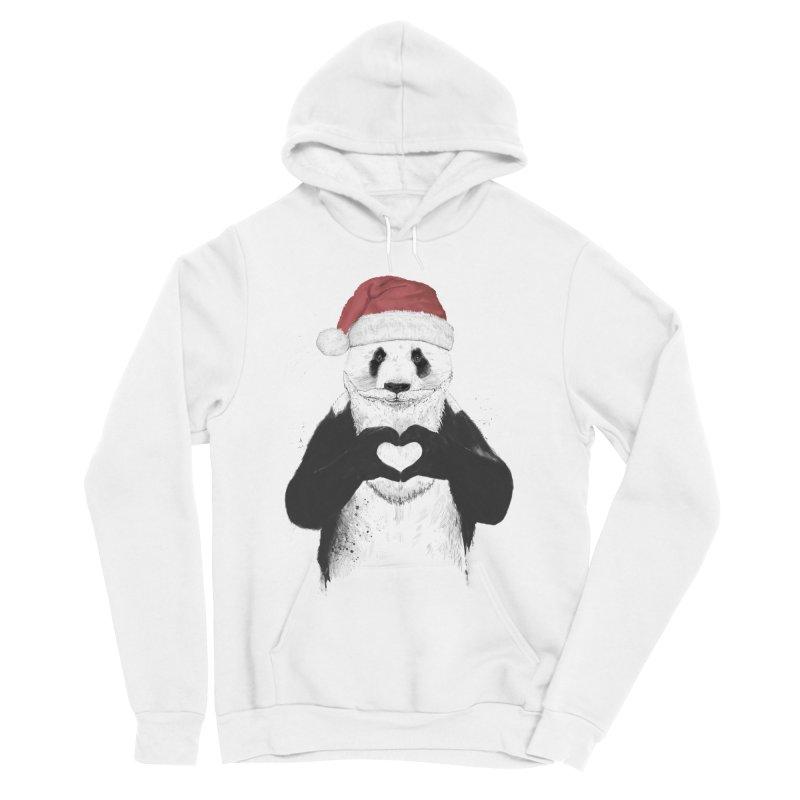 Santa panda Men's Sponge Fleece Pullover Hoody by Balazs Solti
