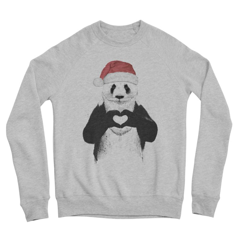 Santa panda Women's Sponge Fleece Sweatshirt by Balazs Solti