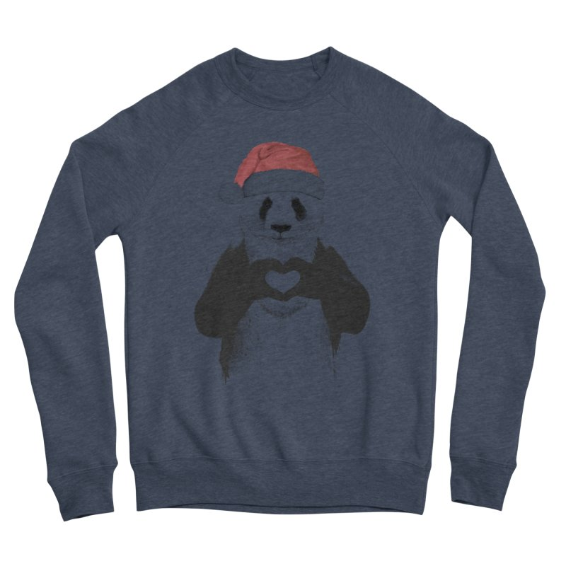 Santa panda Men's Sponge Fleece Sweatshirt by Balazs Solti