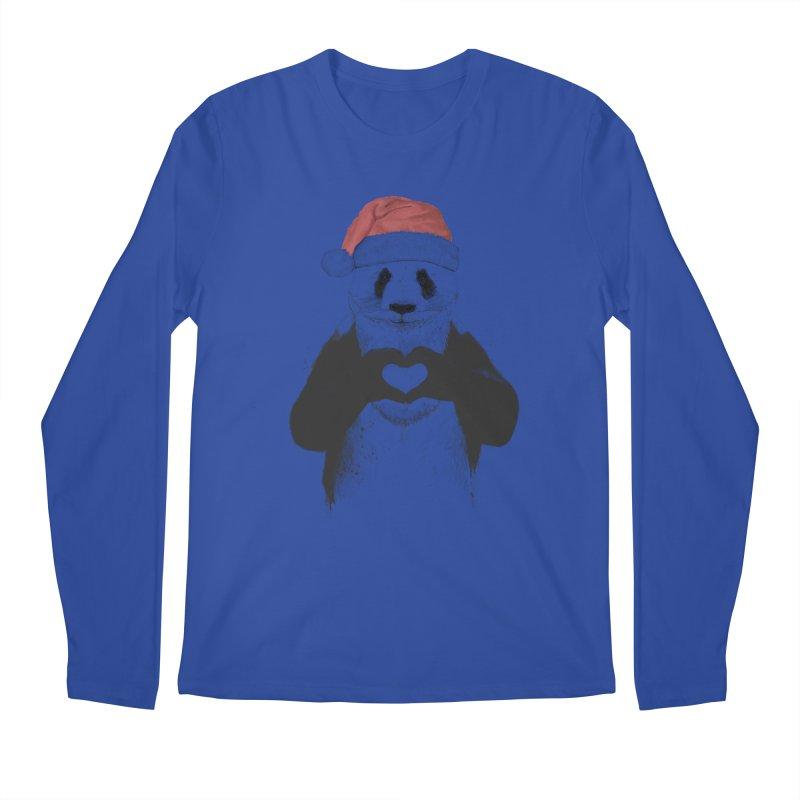 Santa panda Men's Longsleeve T-Shirt by Balazs Solti