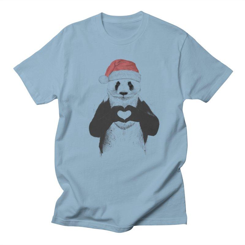 Santa panda Men's Regular T-Shirt by Balazs Solti