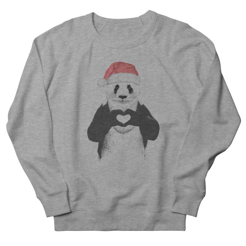 Santa panda Women's French Terry Sweatshirt by Balazs Solti