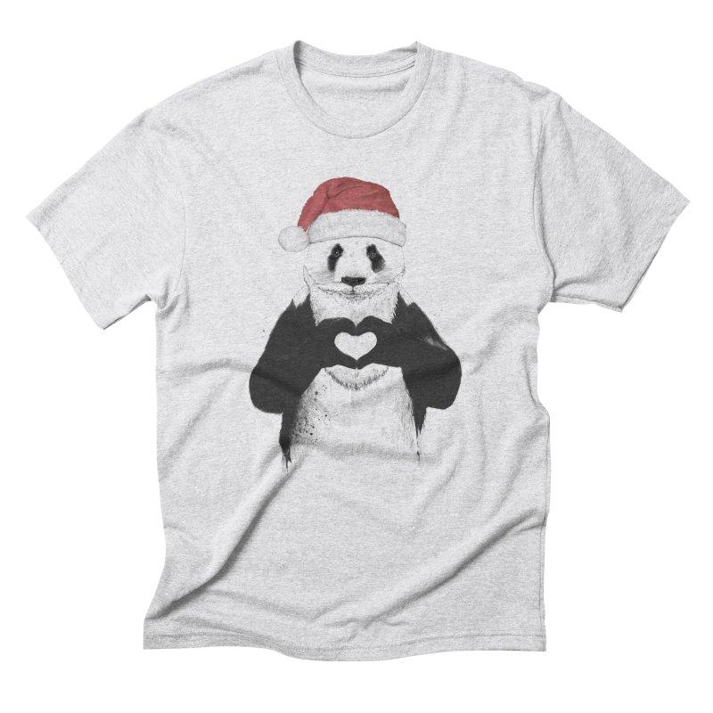 Santa panda Men's Triblend T-Shirt by Balazs Solti