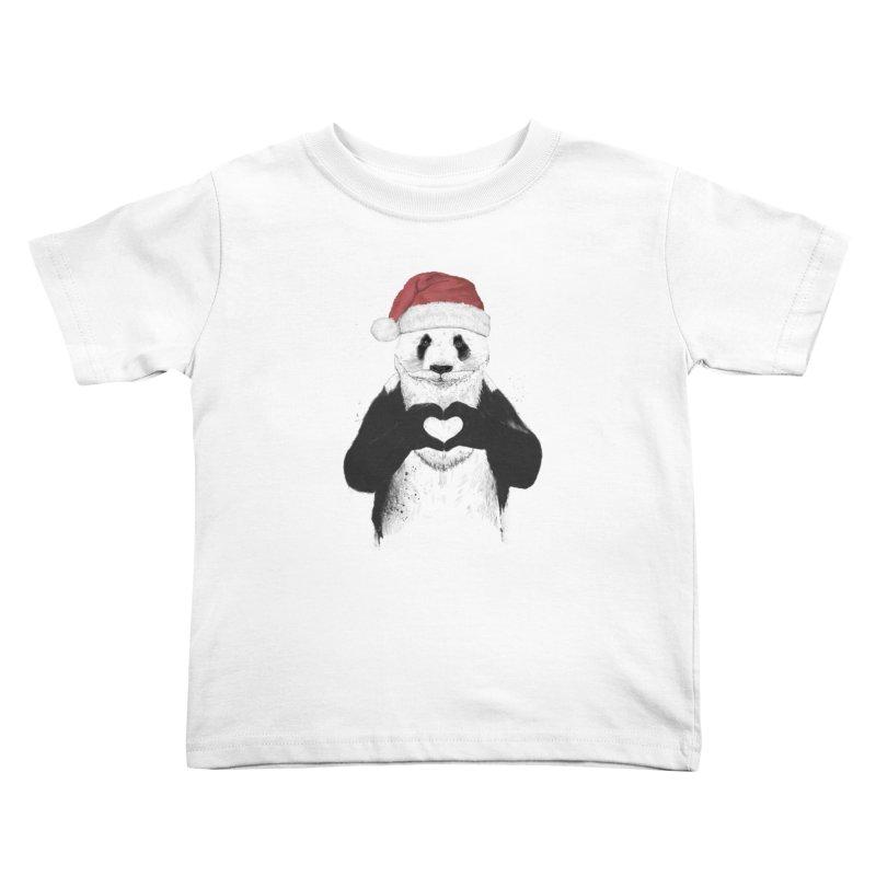 Santa panda Kids Toddler T-Shirt by Balazs Solti