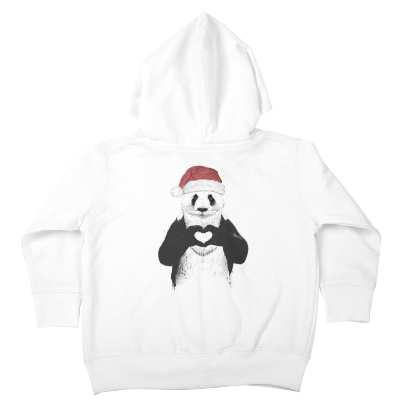 Santa panda Kids Toddler Zip-Up Hoody by Balazs Solti