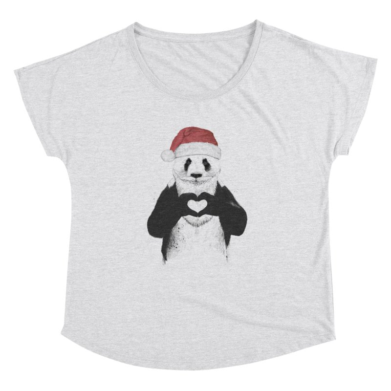 Santa panda Women's Dolman by Balazs Solti