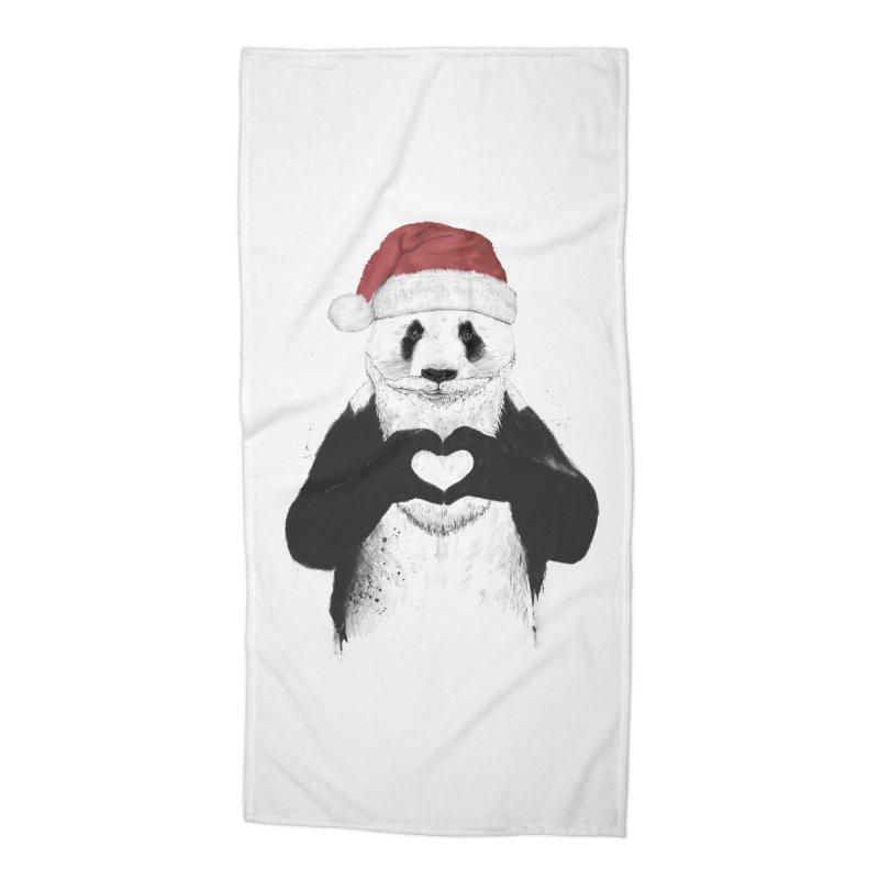Santa panda Accessories Beach Towel by Balazs Solti