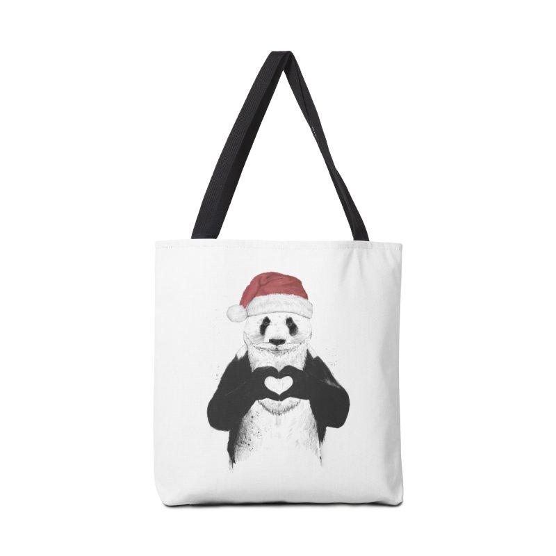Santa panda Accessories Bag by Balazs Solti