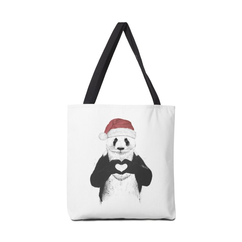 Santa panda Accessories Tote Bag Bag by Balazs Solti