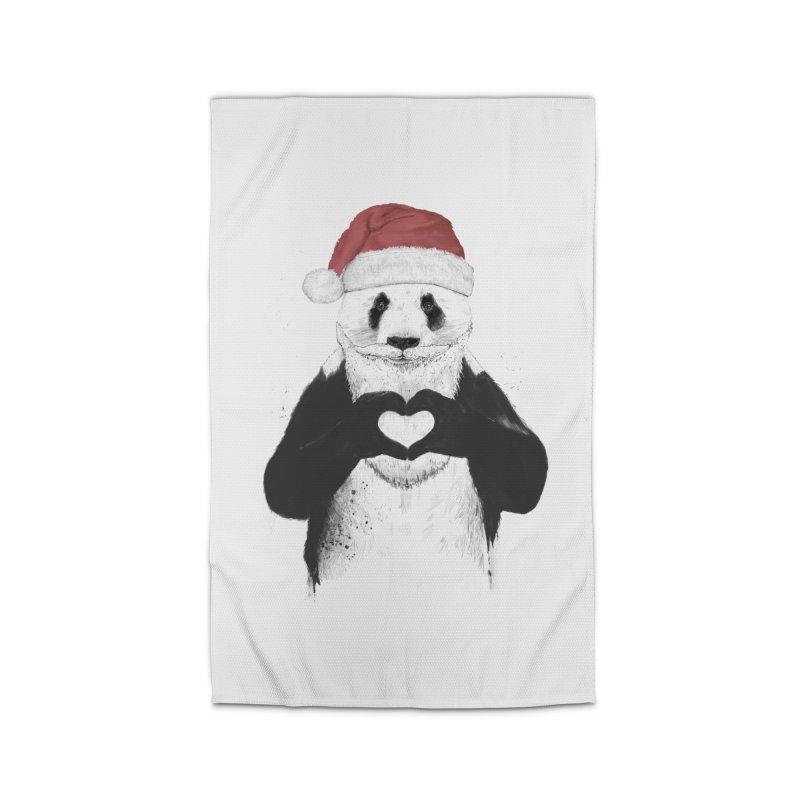 Santa panda Home Rug by Balazs Solti