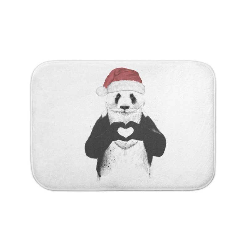 Santa panda Home Bath Mat by Balazs Solti