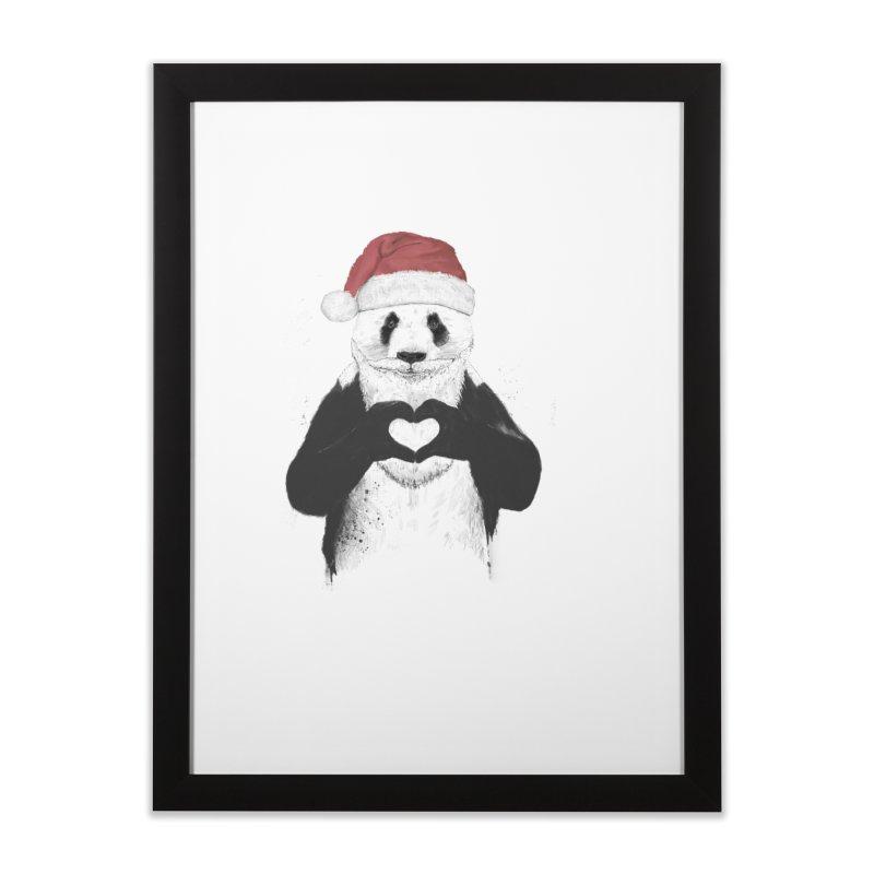 Santa panda Home Framed Fine Art Print by Balazs Solti