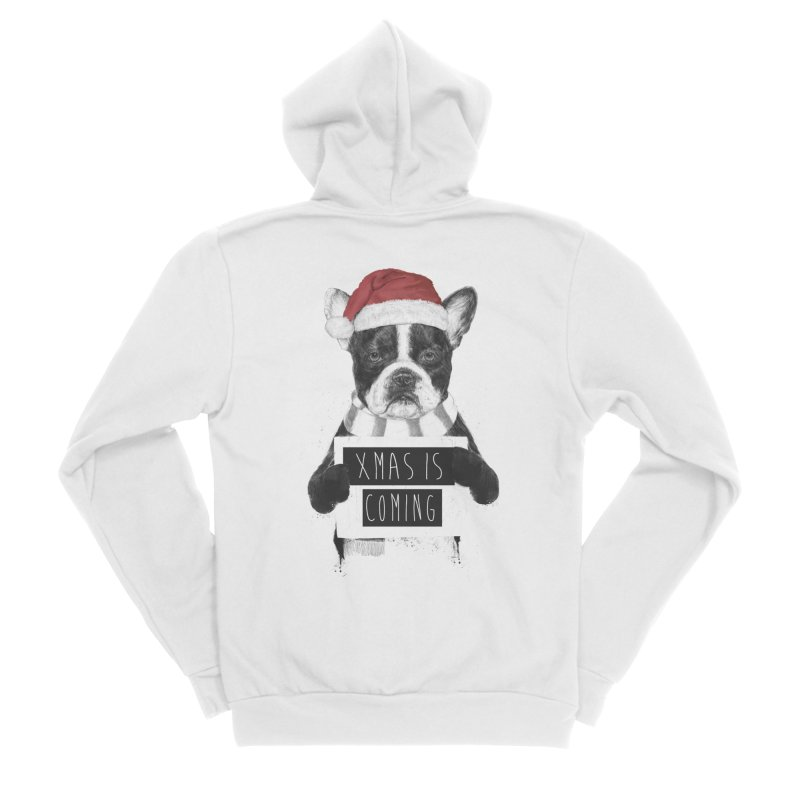 Xmas is coming Women's Zip-Up Hoody by Balazs Solti
