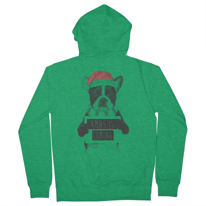 Xmas is coming Women's French Terry Zip-Up Hoody by Balazs Solti