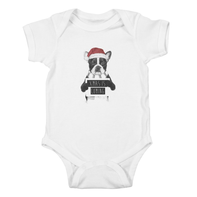 Xmas is coming Kids Baby Bodysuit by Balazs Solti