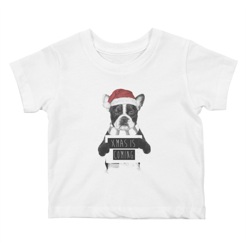 Xmas is coming Kids Baby T-Shirt by Balazs Solti