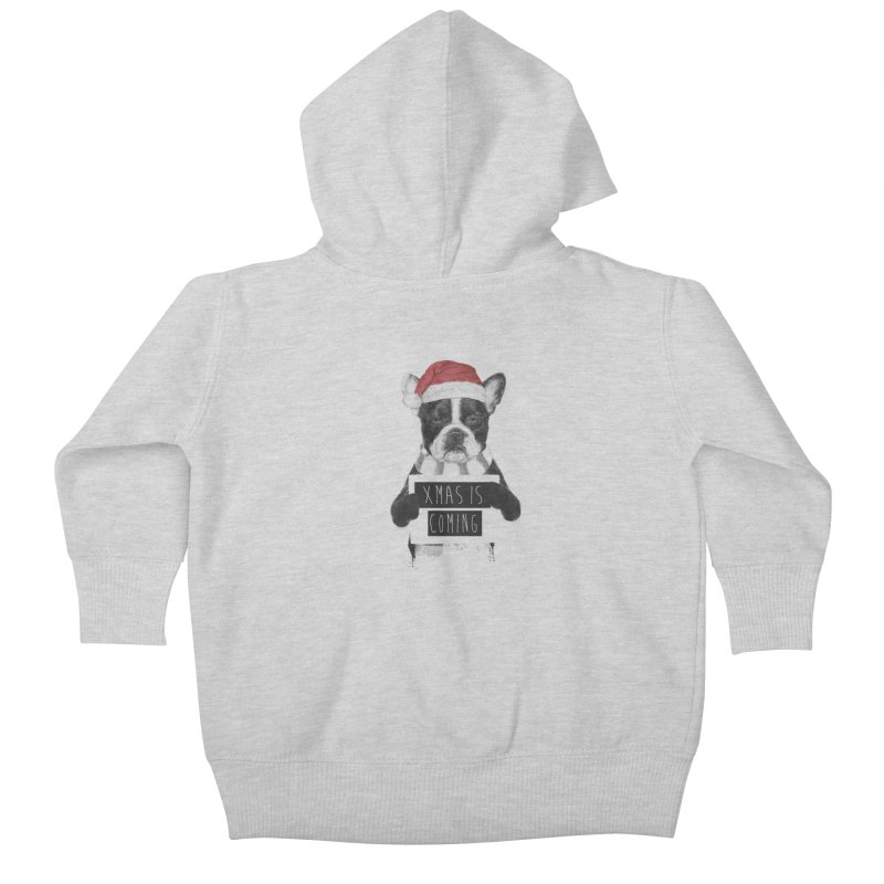 Xmas is coming Kids Baby Zip-Up Hoody by Balazs Solti