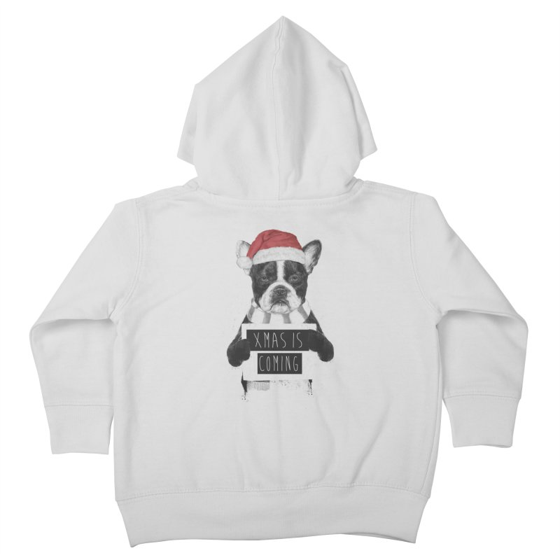 Xmas is coming Kids Toddler Zip-Up Hoody by Balazs Solti