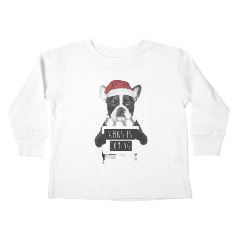 Xmas is coming Kids Toddler Longsleeve T-Shirt by Balazs Solti