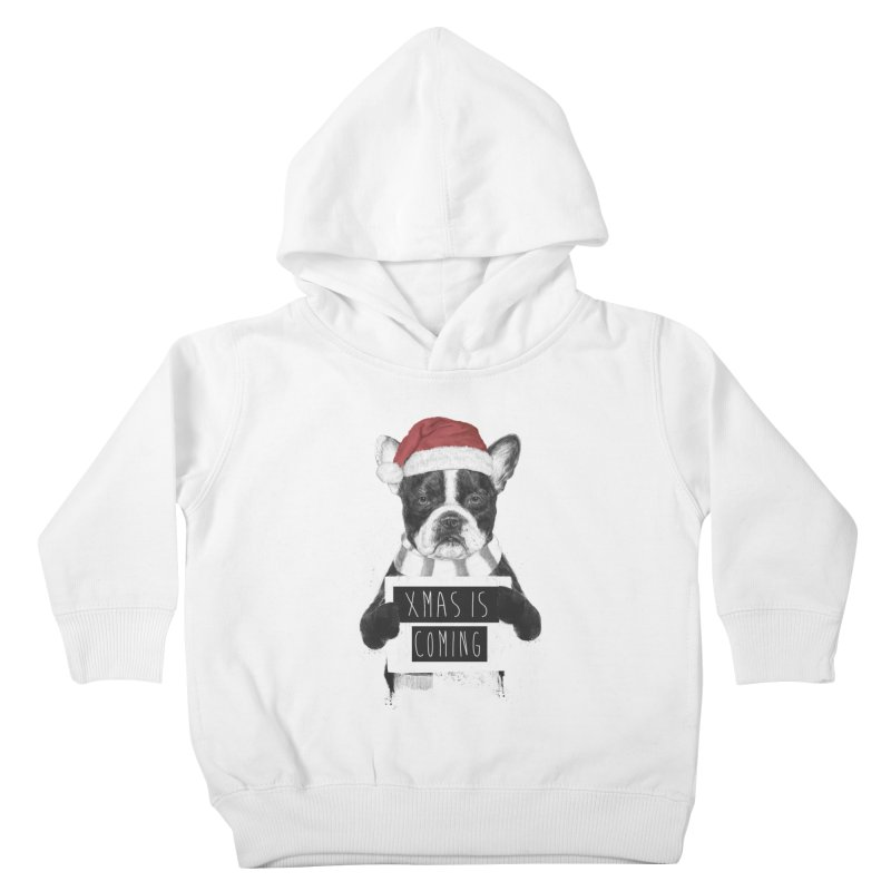 Xmas is coming Kids Toddler Pullover Hoody by Balazs Solti