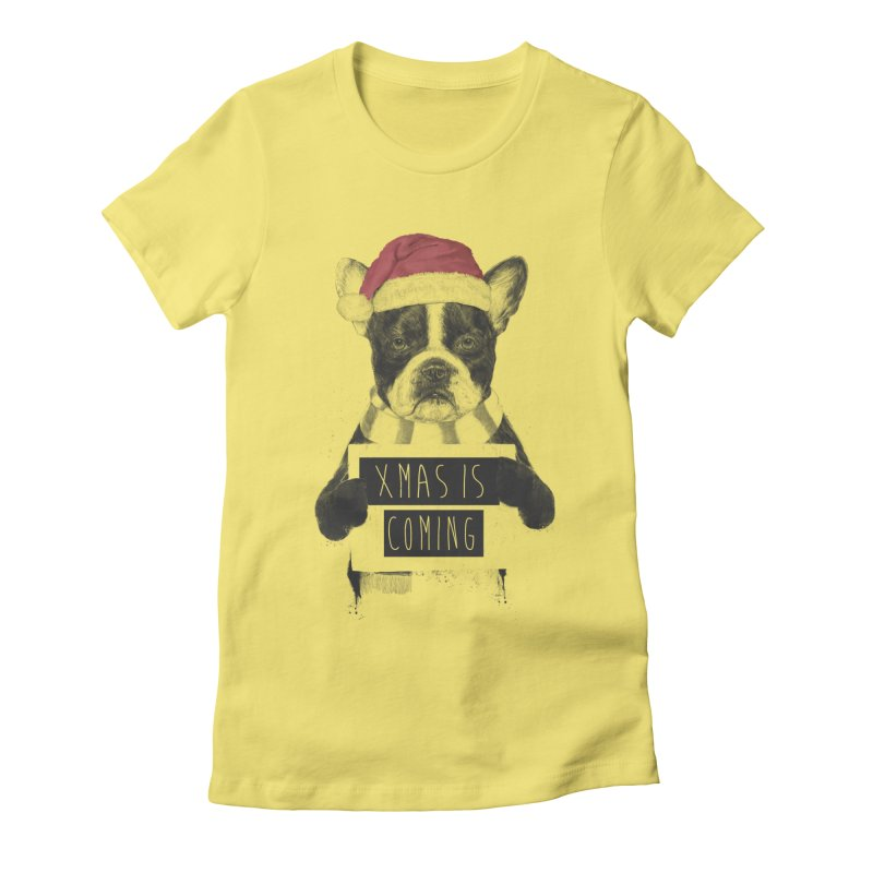 Xmas is coming Women's Fitted T-Shirt by Balazs Solti