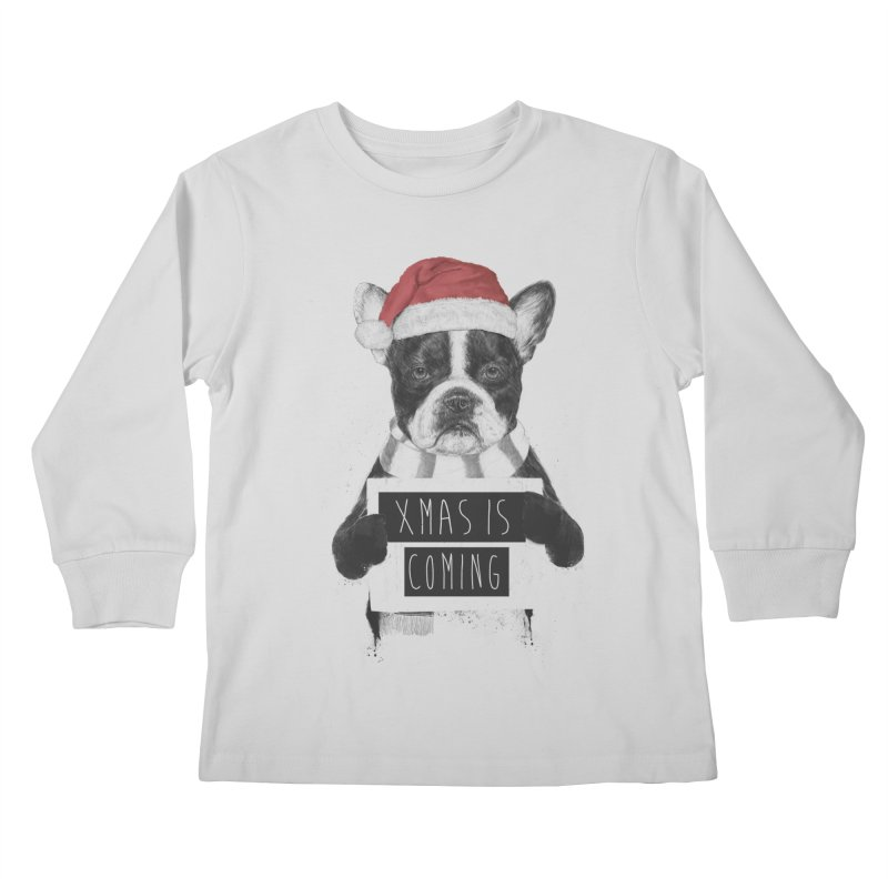 Xmas is coming Kids Longsleeve T-Shirt by Balazs Solti