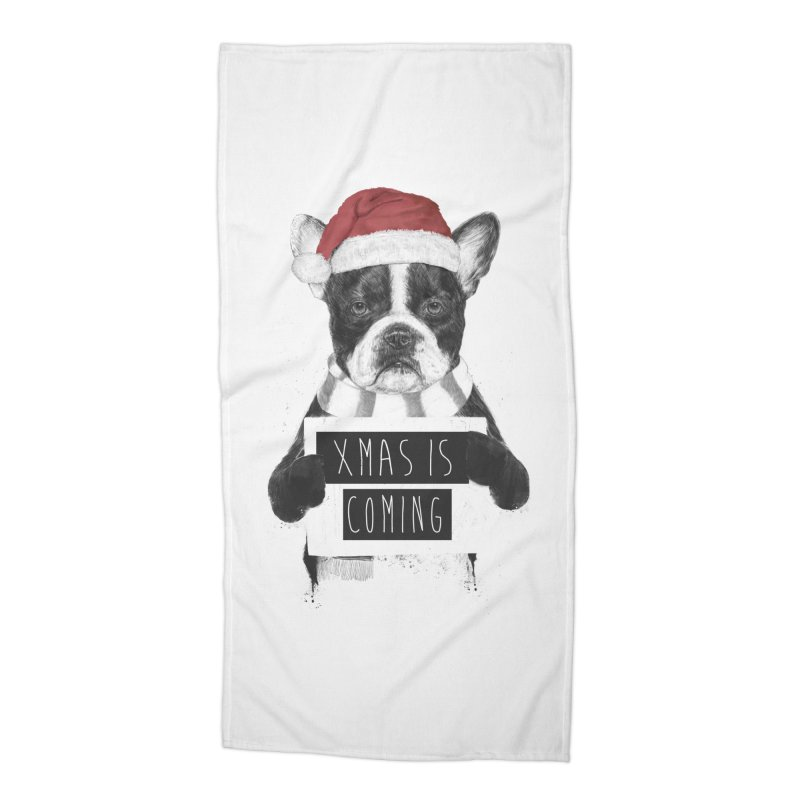 Xmas is coming Accessories Beach Towel by Balazs Solti