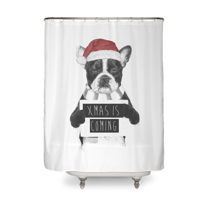 Xmas is coming Home Shower Curtain by Balazs Solti