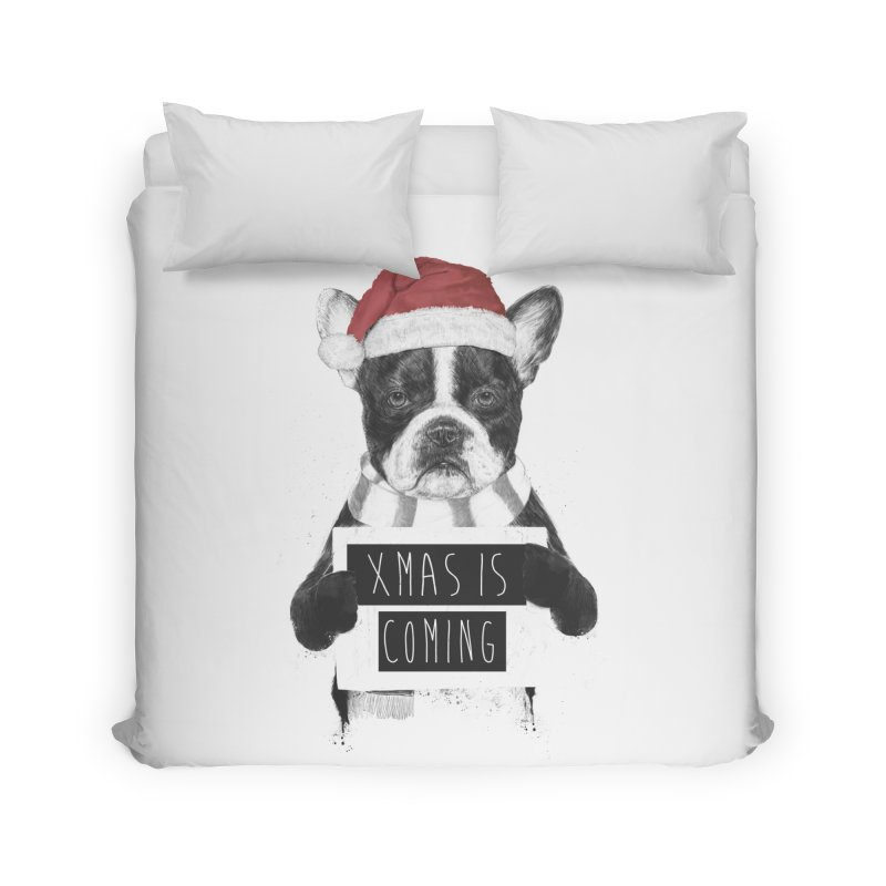 Xmas is coming Home Duvet by Balazs Solti