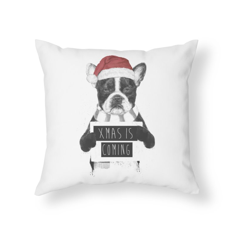 Xmas is coming Home Throw Pillow by Balazs Solti