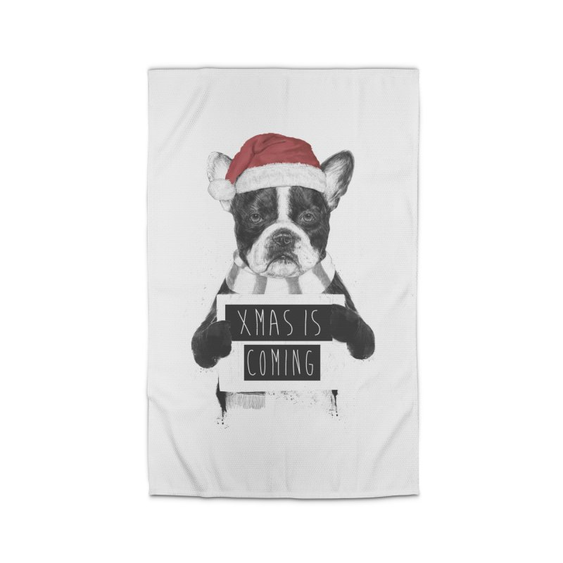 Xmas is coming Home Rug by Balazs Solti