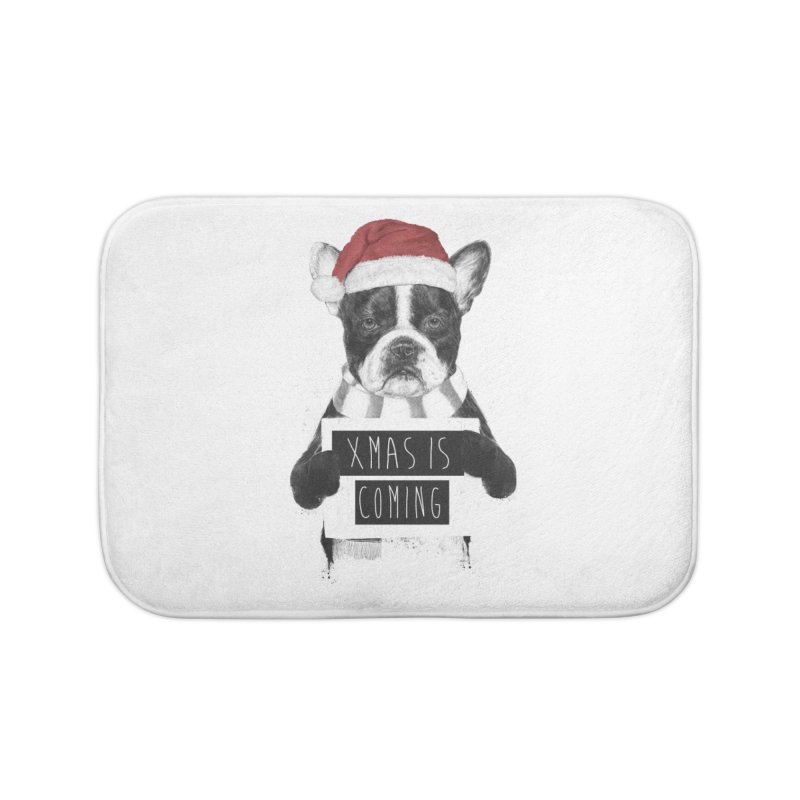 Xmas is coming Home Bath Mat by Balazs Solti