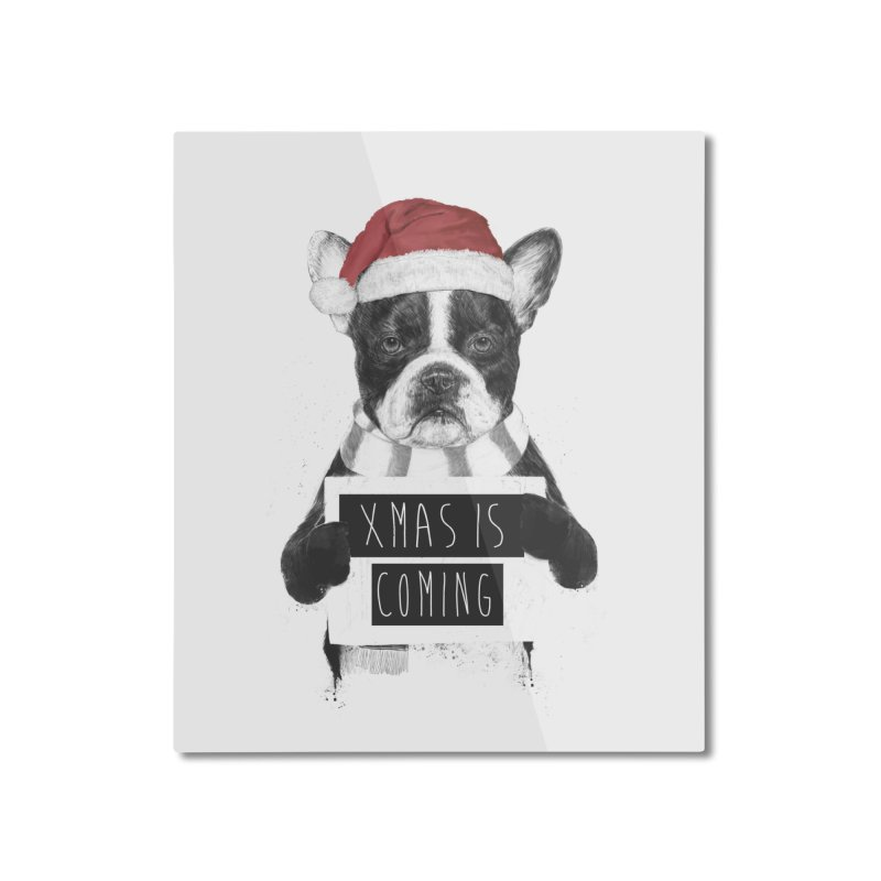 Xmas is coming Home Mounted Aluminum Print by Balazs Solti