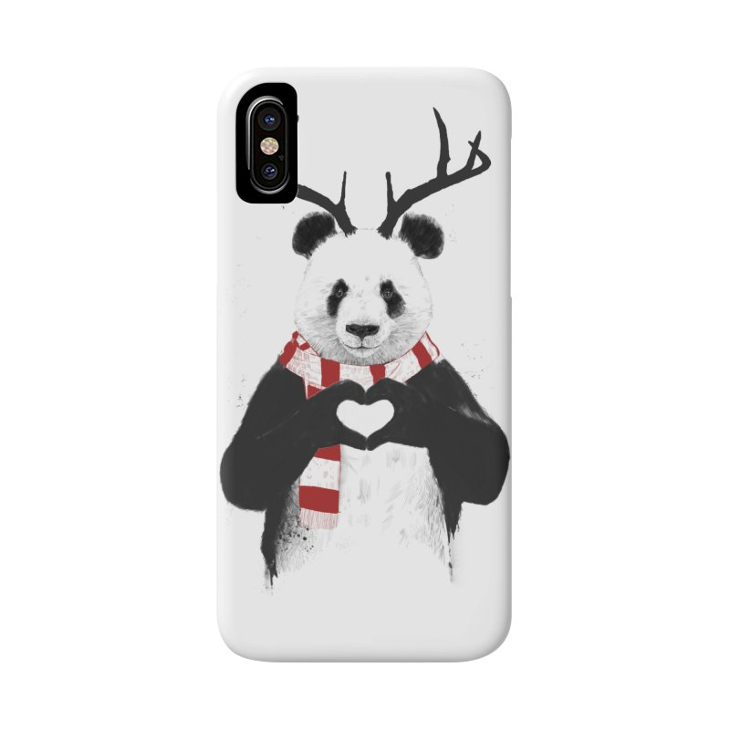 Xmas panda Accessories Phone Case by Balazs Solti