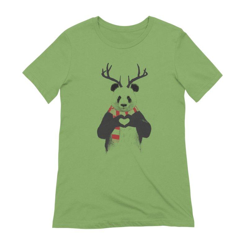 Xmas panda Women's Extra Soft T-Shirt by Balazs Solti
