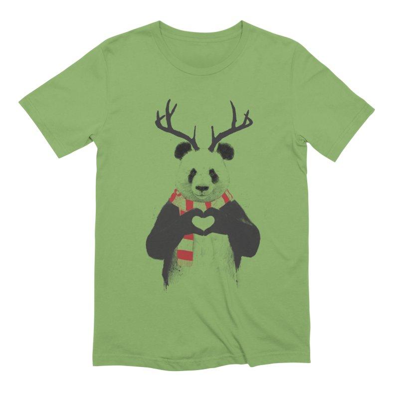 Xmas panda Men's Extra Soft T-Shirt by Balazs Solti