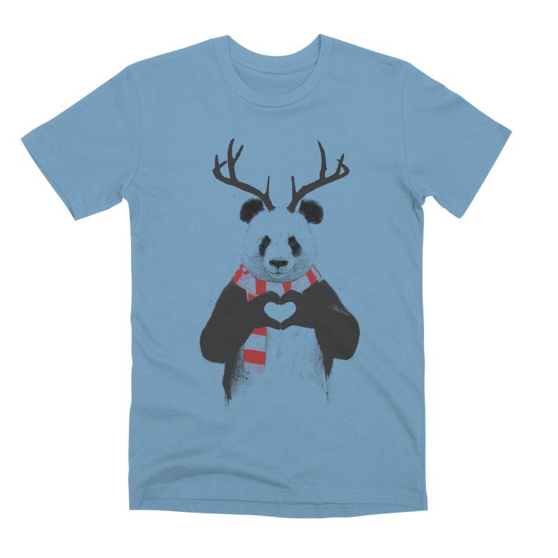 Xmas panda Men's Premium T-Shirt by Balazs Solti