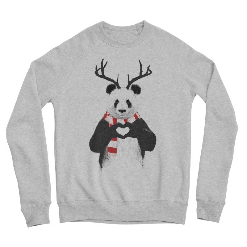 Xmas panda Women's Sponge Fleece Sweatshirt by Balazs Solti