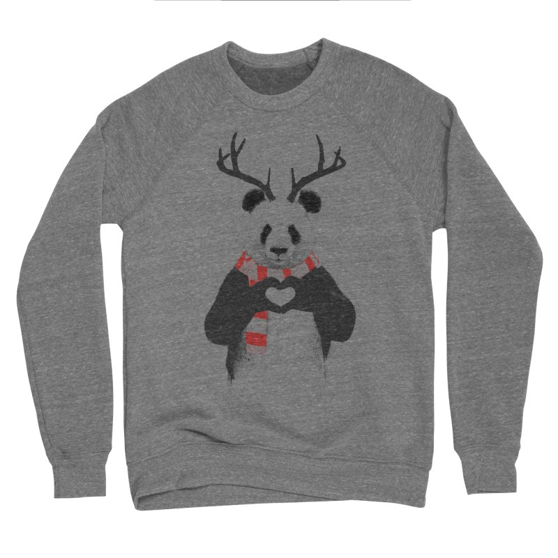 Xmas panda Men's Sponge Fleece Sweatshirt by Balazs Solti