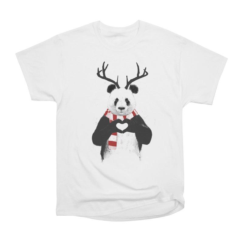 Xmas panda Men's Classic T-Shirt by Balazs Solti