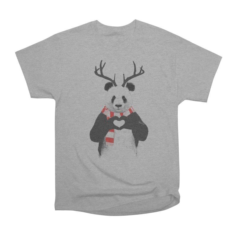 Xmas panda Women's Classic Unisex T-Shirt by Balazs Solti