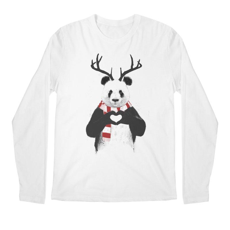 Xmas panda Men's Longsleeve T-Shirt by Balazs Solti