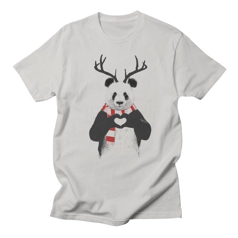 Xmas panda Men's Regular T-Shirt by Balazs Solti