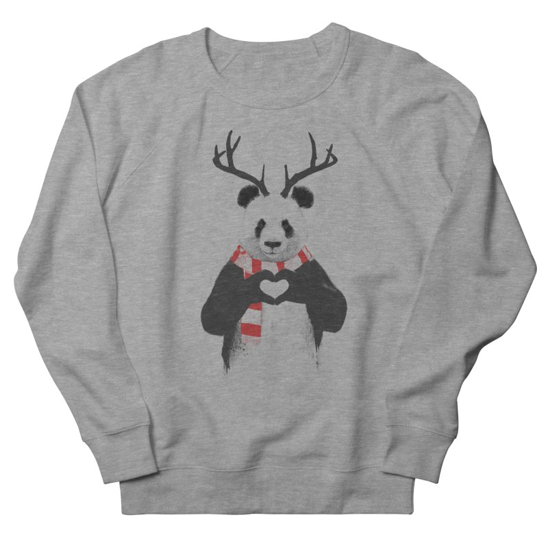 Xmas panda Men's Sweatshirt by Balazs Solti