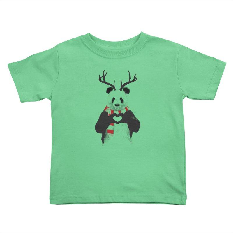 Xmas panda Kids Toddler T-Shirt by Balazs Solti