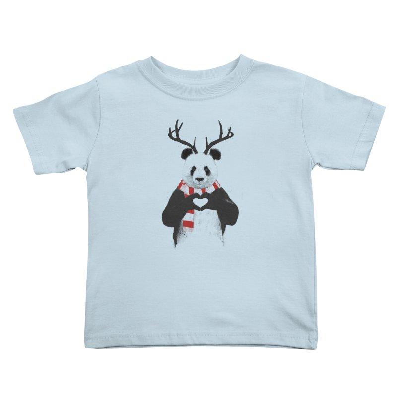 Xmas panda Kids Toddler T-Shirt by Balazs Solti